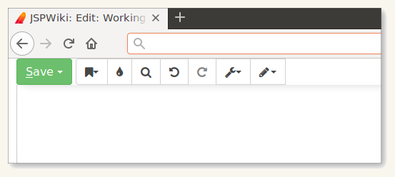 JSPWiki floating editor toolbar