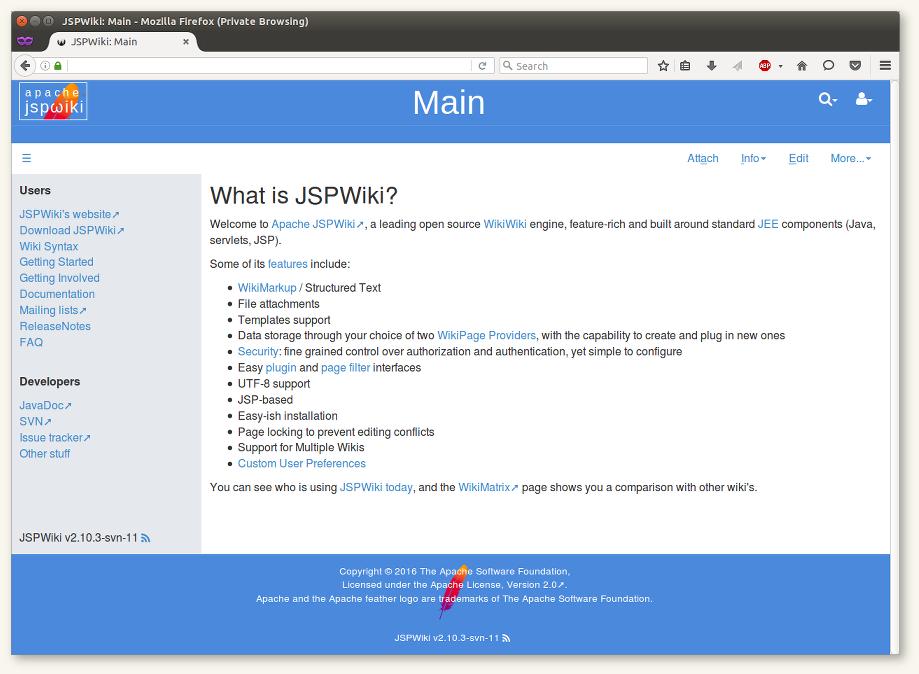 The JSPWiki Haddock template