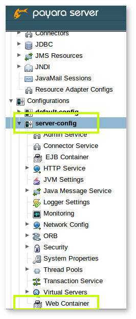 Configuring the session timeout value in Payara Server